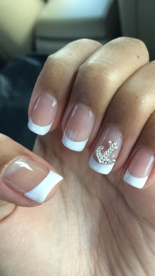 Anchor, cute nails, french tip, white, classy, cute, nails ...