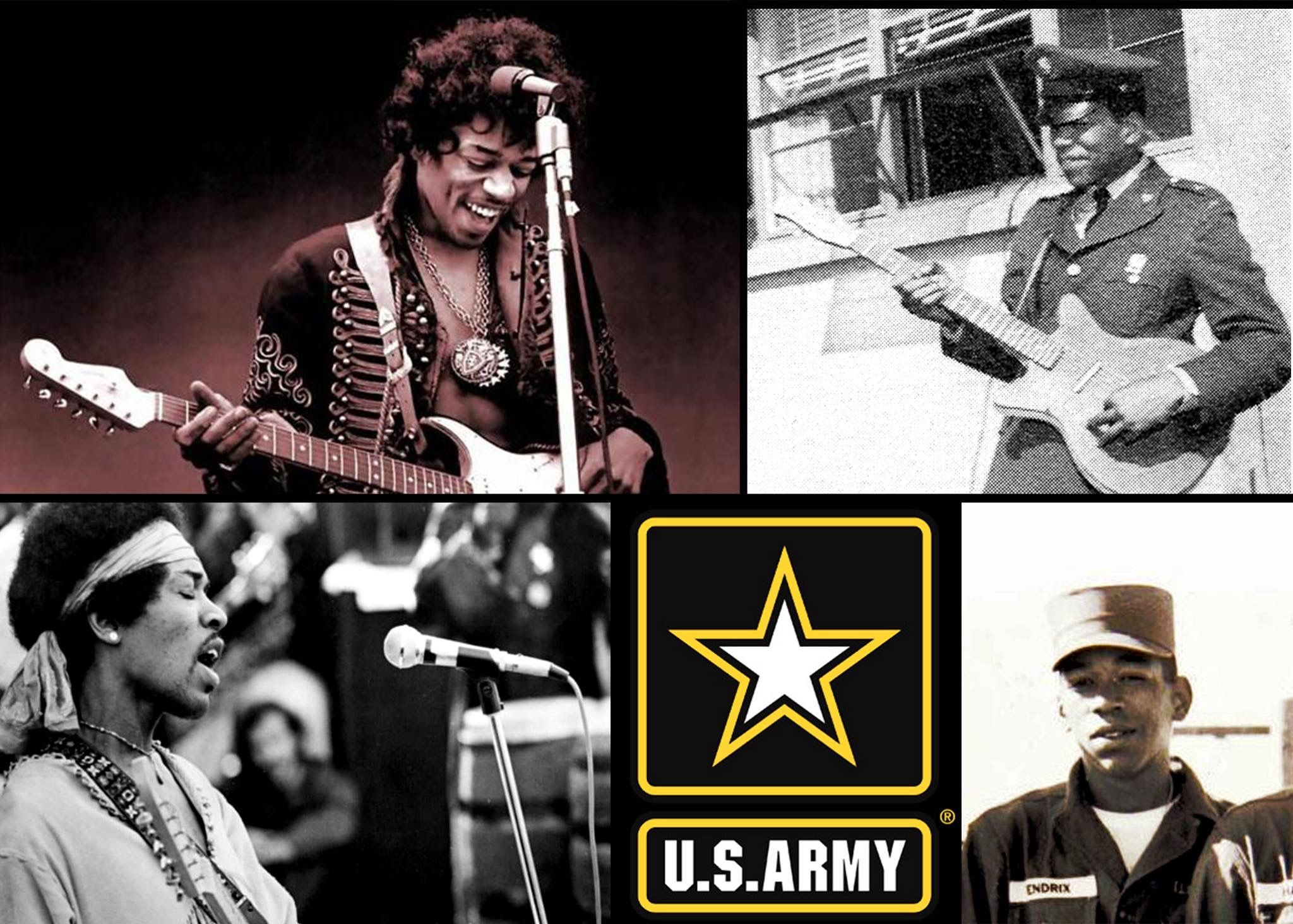 Image result for jimi hendrix 101st airborne