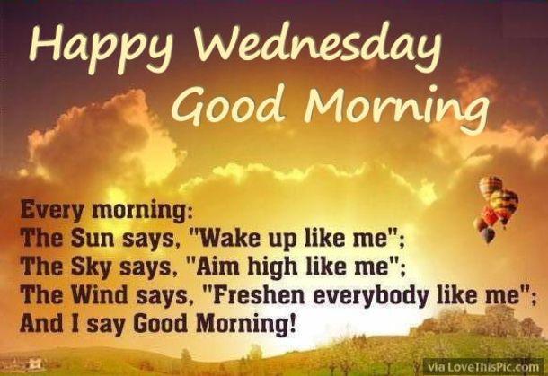 20 Best Good Morning Happy Wednesday Quotes Happy