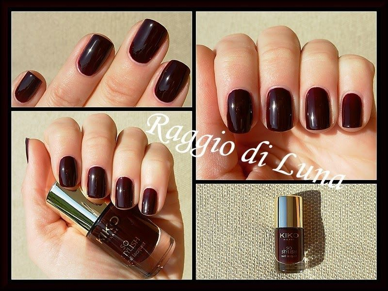 Raggio di Luna Nails: Kiko So Stylish Nail Lacquer n° 004 Rouge Noir ...
