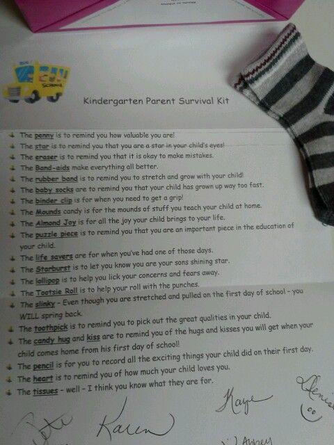 Kindergarten Survival Kit
