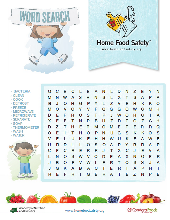 Food Safety Word Search [Game] Home Food Safety Food