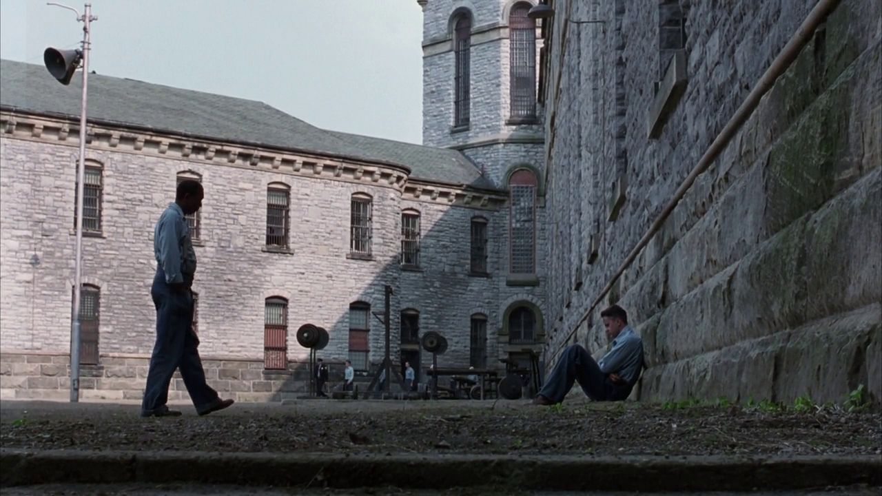 Morgan Freeman and Tim Robbins in The Shawshank Redemption ...