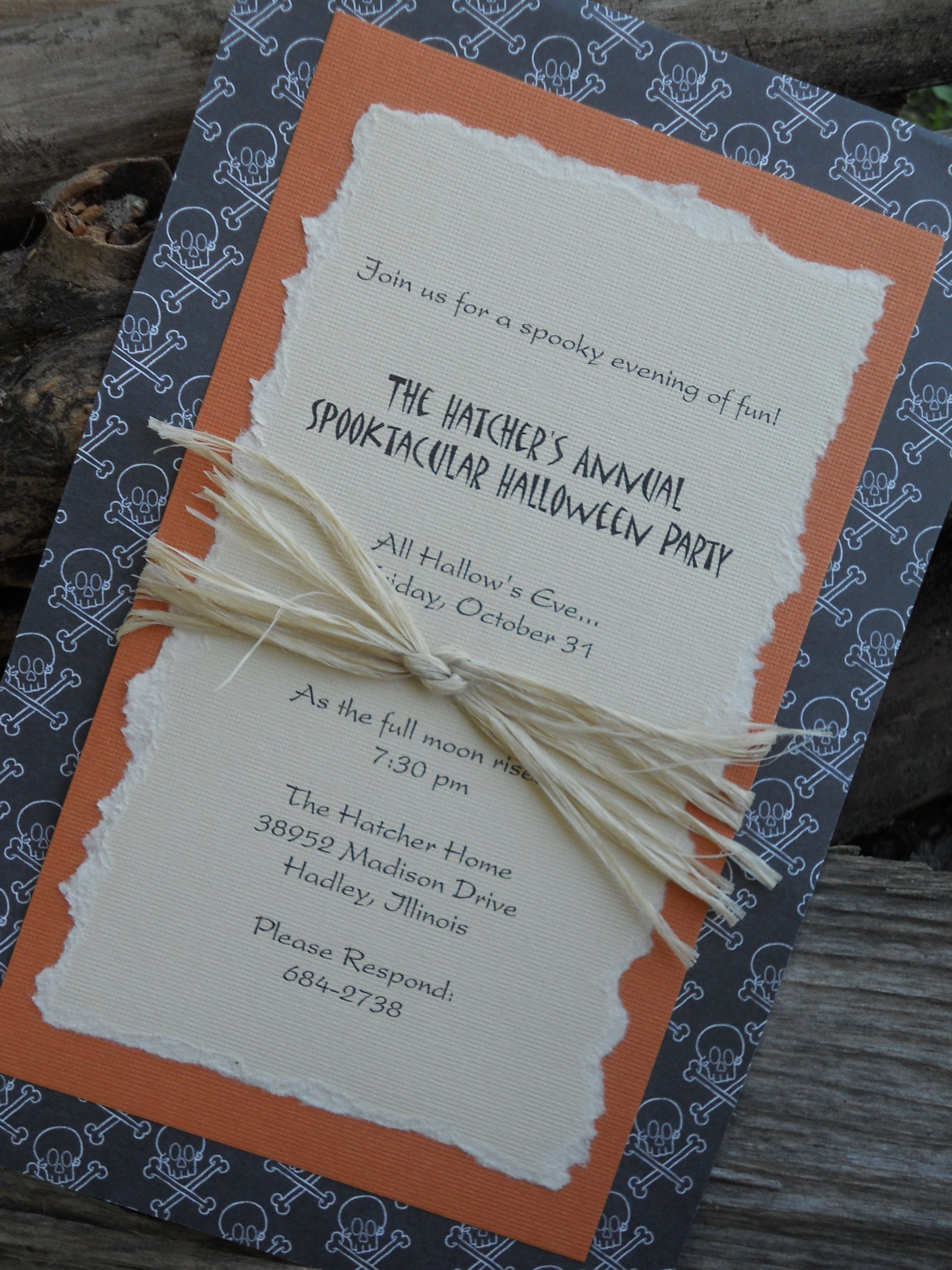 homemade invitations-halloween5-1 | Halloween | Pinterest ...
