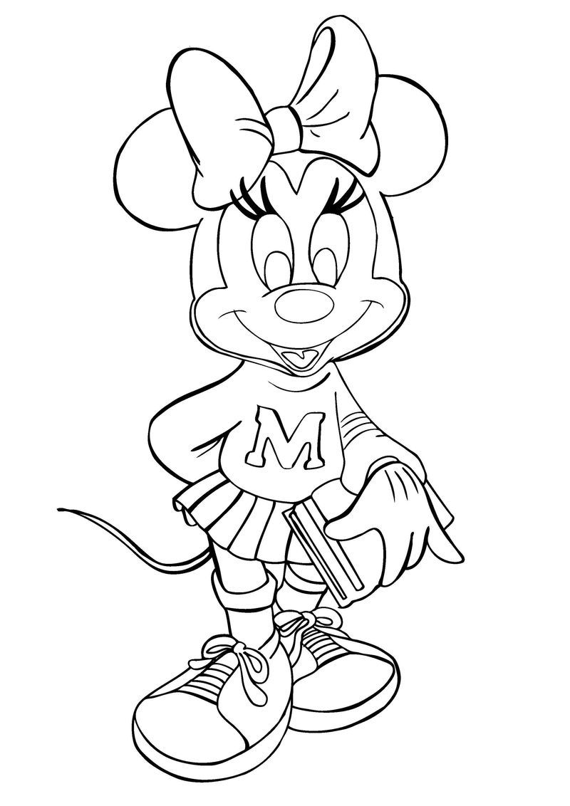 Disney Minnie Mouse Coloring Pages In 2020 Disney Coloring Pages Minnie Mouse Coloring Pages Mickey Mouse Coloring Pages