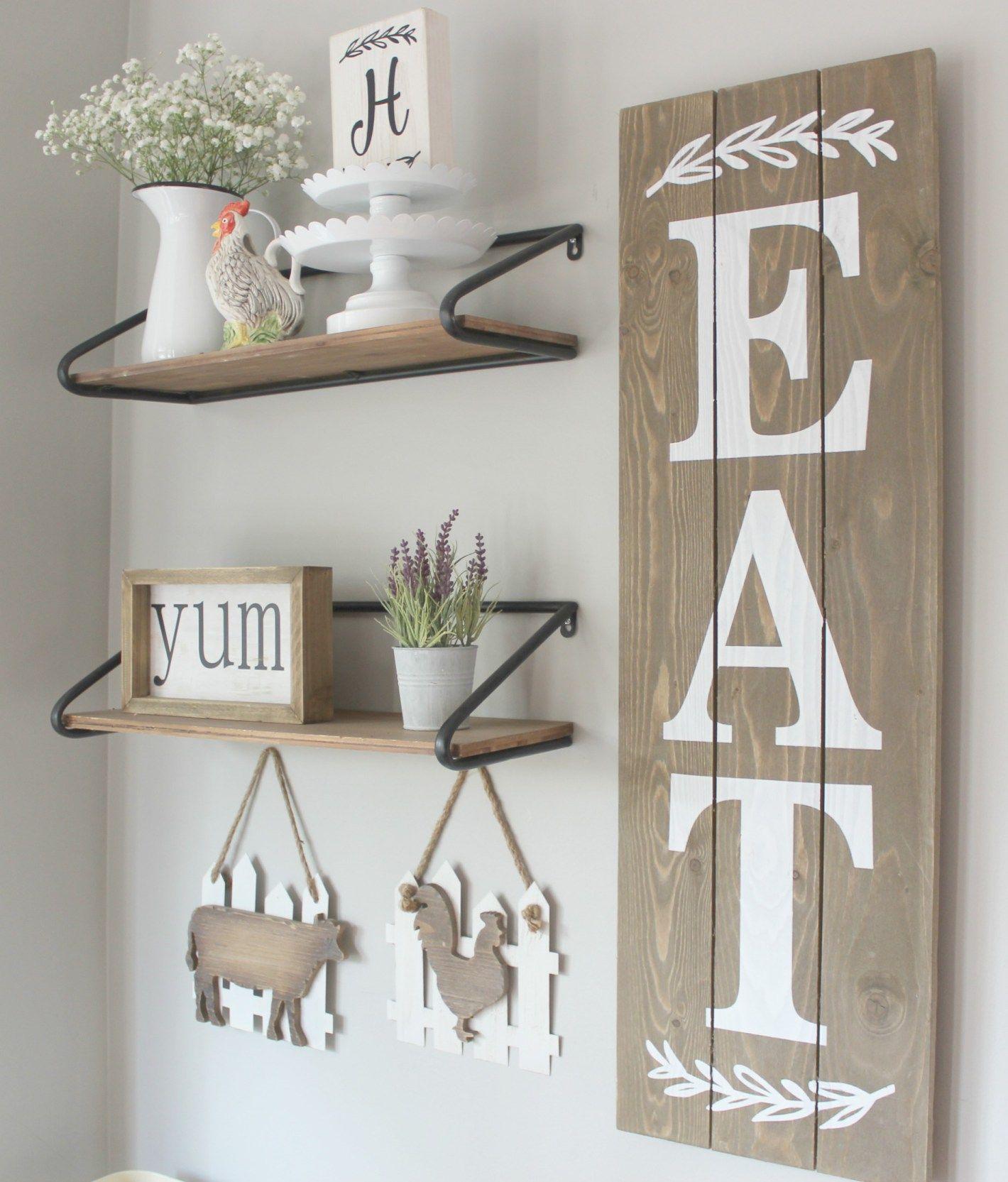 Farmhouse Kitchen Wall Decor - | Dining room wall decor ...