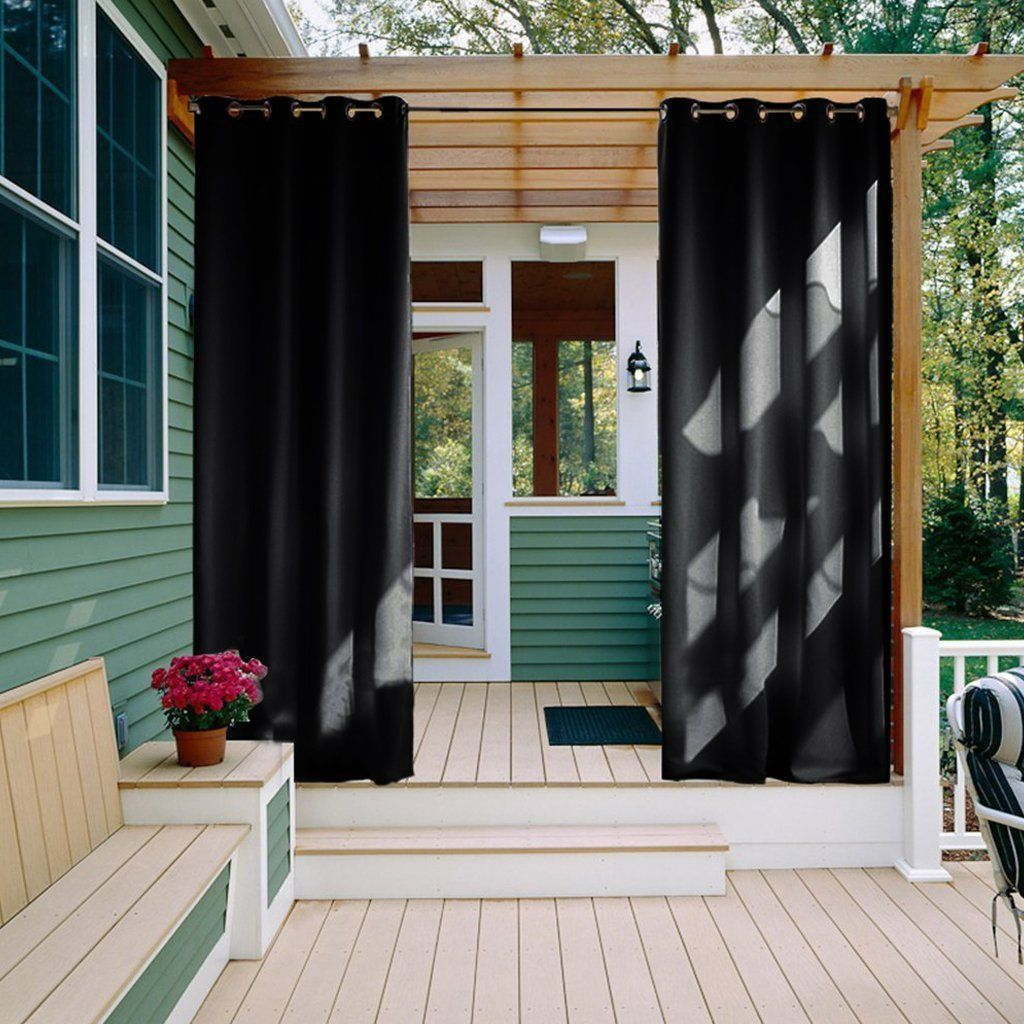 Patio Decor With Outdoor Curtain Panels 108 Long Nicetown Water Repellent Thermal Insulated Blackout Indoor Curtains D 1 Panel 52 X