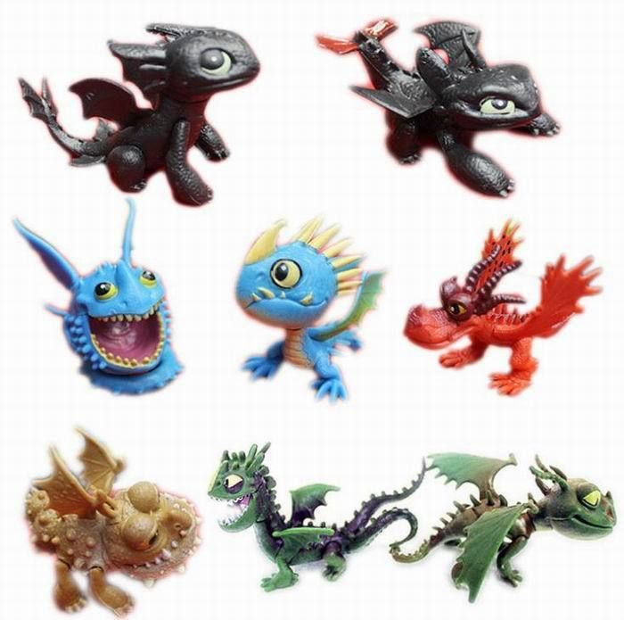 How to Train Your Dragon 8 pcs Action Figures Set Toothless Night Fury Nadder