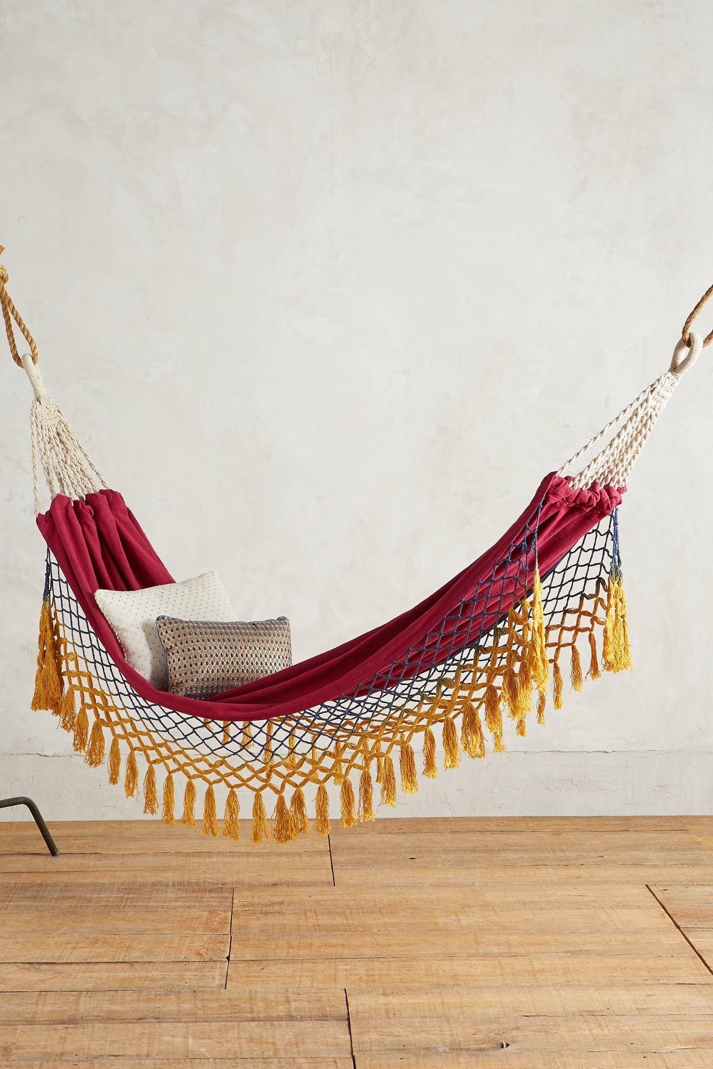 Canyon fringe hammock anthropologie hammocks pinterest
