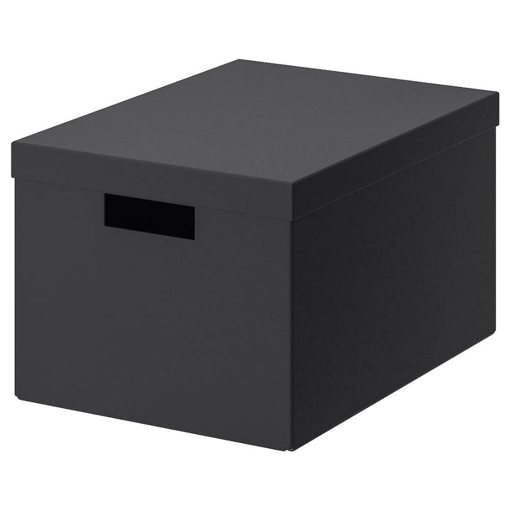 Tjena Forvaringslada Med Lock Svart 25x35x20 Cm Ikea In 2020 Storage Boxes With Lids Box With Lid Storage