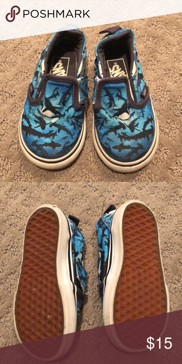 Vans blue shark shoes in 2020   Shark