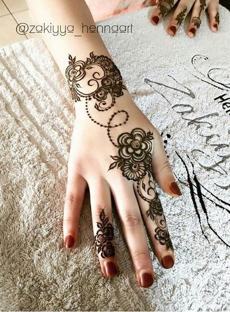 Gorgeous arabic simple hand mehndi henna designs also modeles de henne rh za pinterest