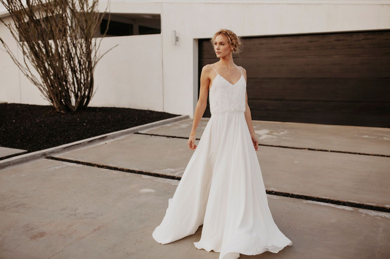 The springsummer collection from sarah seven wedding