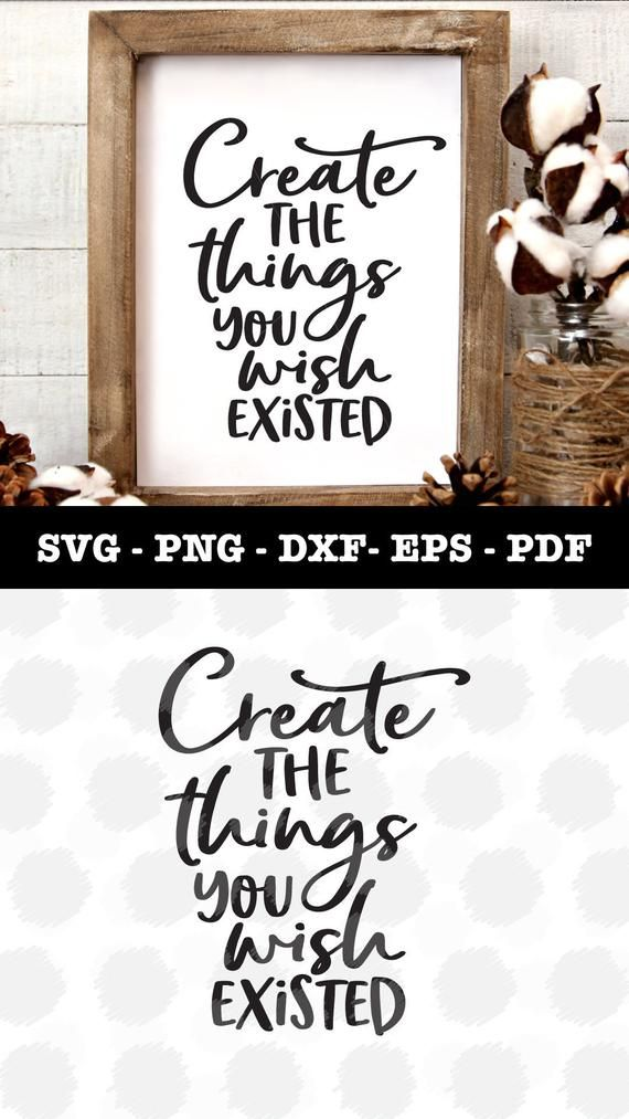Create Things Svg file for Cricut / Silhouette  Svg files  | Etsy