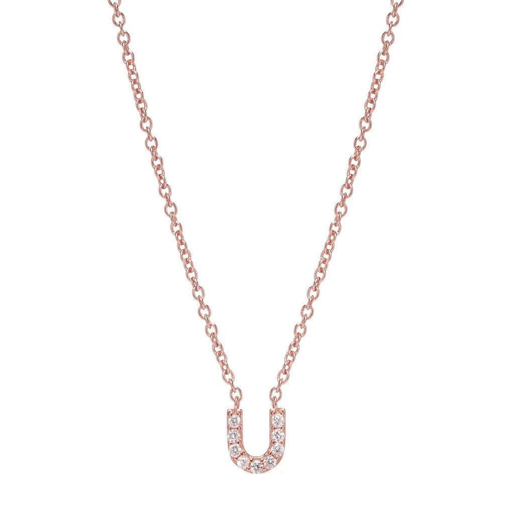 personalized stackable chains amelia chloe shea initial diamond sarah fine ring necklace