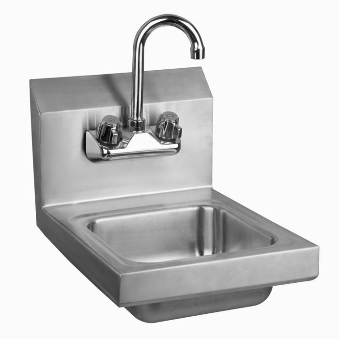 Stainless Steel Space Saver Wall Mount Hand Sink With Faucet U0026 Drain  #ATFaucet #handsink #sinks #restaurants #bars #deli