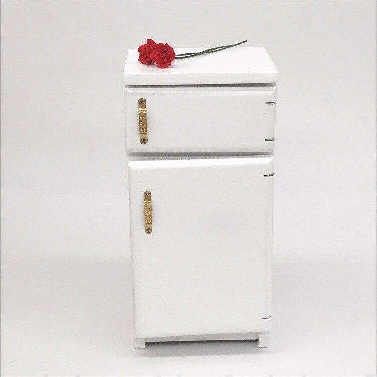Dollhouse Miniature Kitchen Furniture Refrigerator Fridge Freezer Cabinet 1//12