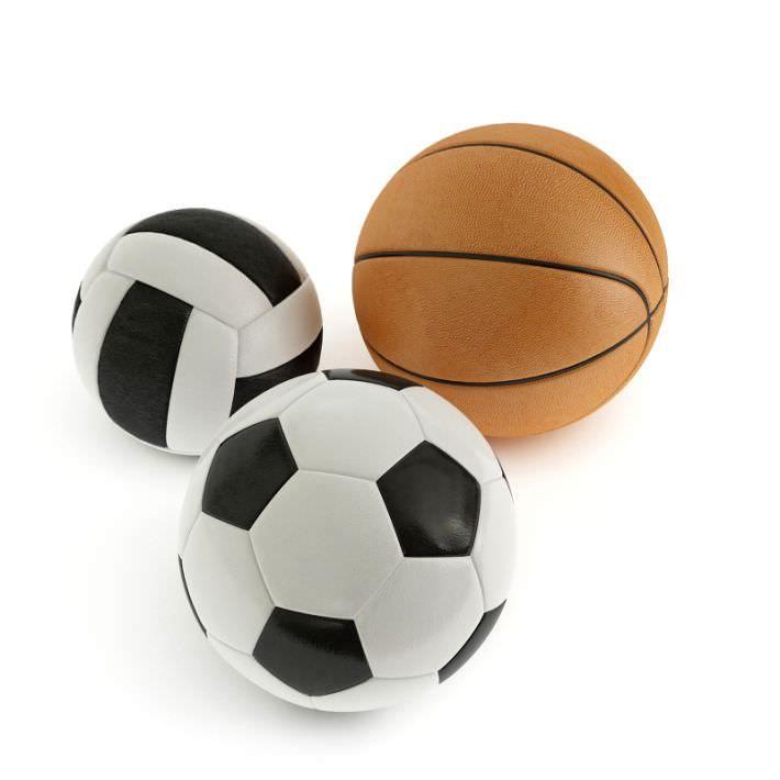 Ball Soccer Basketball Volleyball 3d Model Soccer Sports Volleyball Set