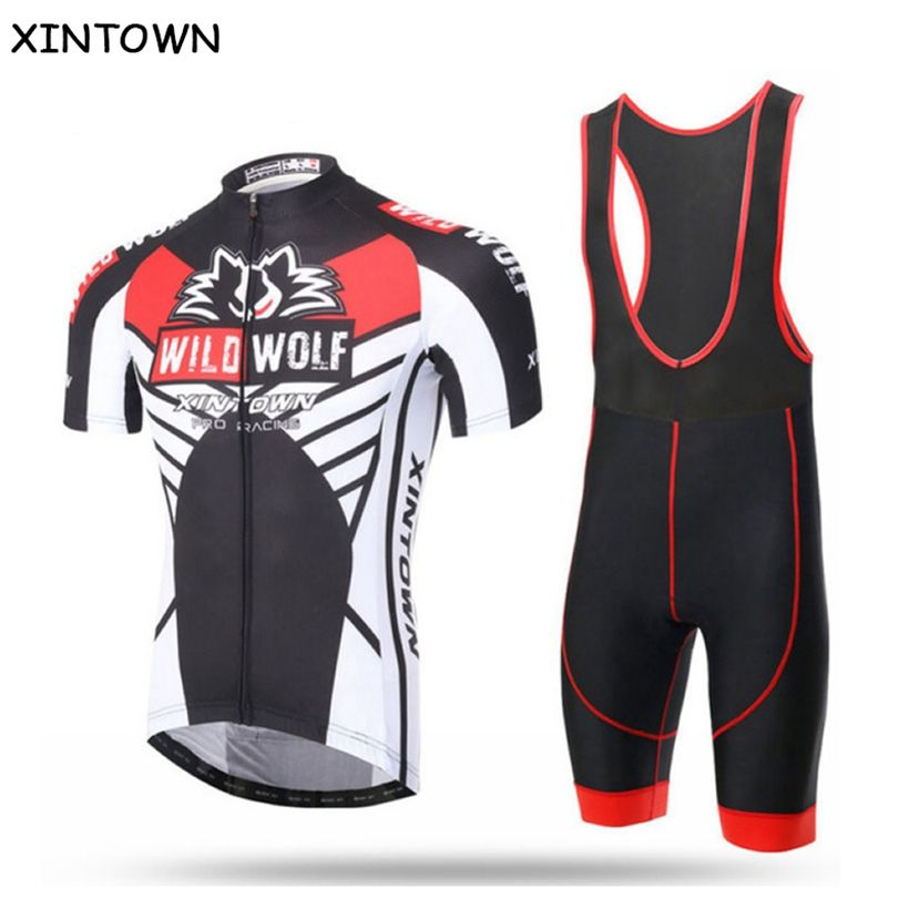 Men/'s Sports Short Sleeve Cycling Jersey Bike Bib Shorts Pants Kits Team Maillot