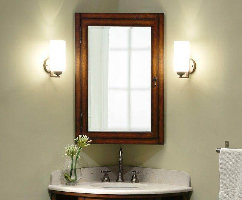 Carlton 24in Corner Mirrored Medicine Cabinet Corner Bathroom Mirror Bathroom Medicine Cabinet Mirror Corner Medicine Cabinet