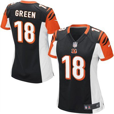 4b9aedc7 AJ Green Cincinnati Bengals Nike Women's Game Jersey - Black ...