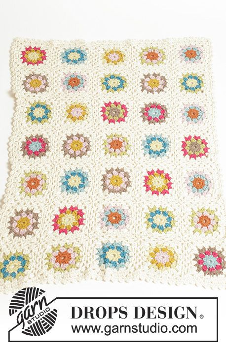 Granny\'s Little Girl / DROPS Baby 19-22 - Frazada a colores en ...