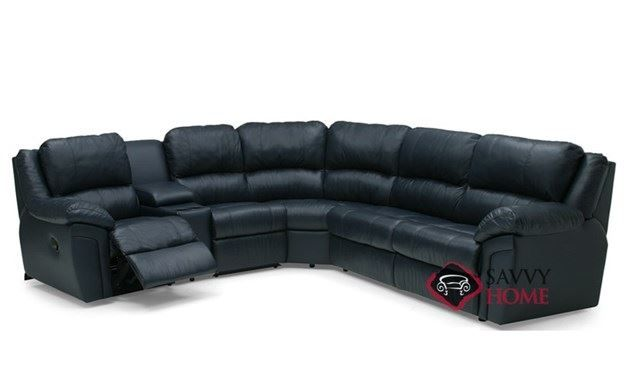 Daley Large Reclining True Sectional Top-Grain Leather Full ...