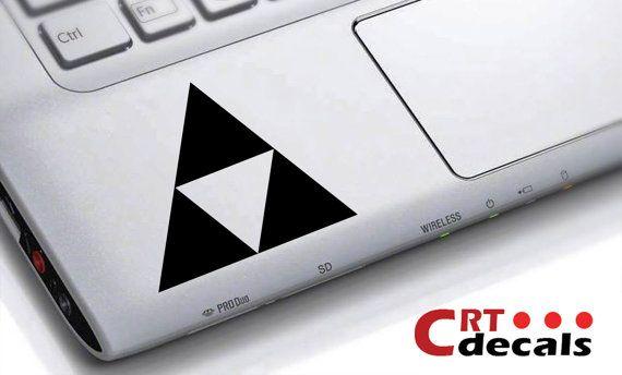 Zelda Triforce Vinyl Decal - wrist decal - Laptop Decal