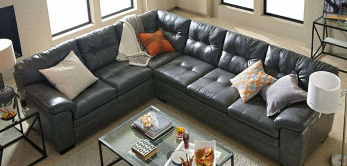 leathersectionalsofasmaterial Furniture Pinterest Living