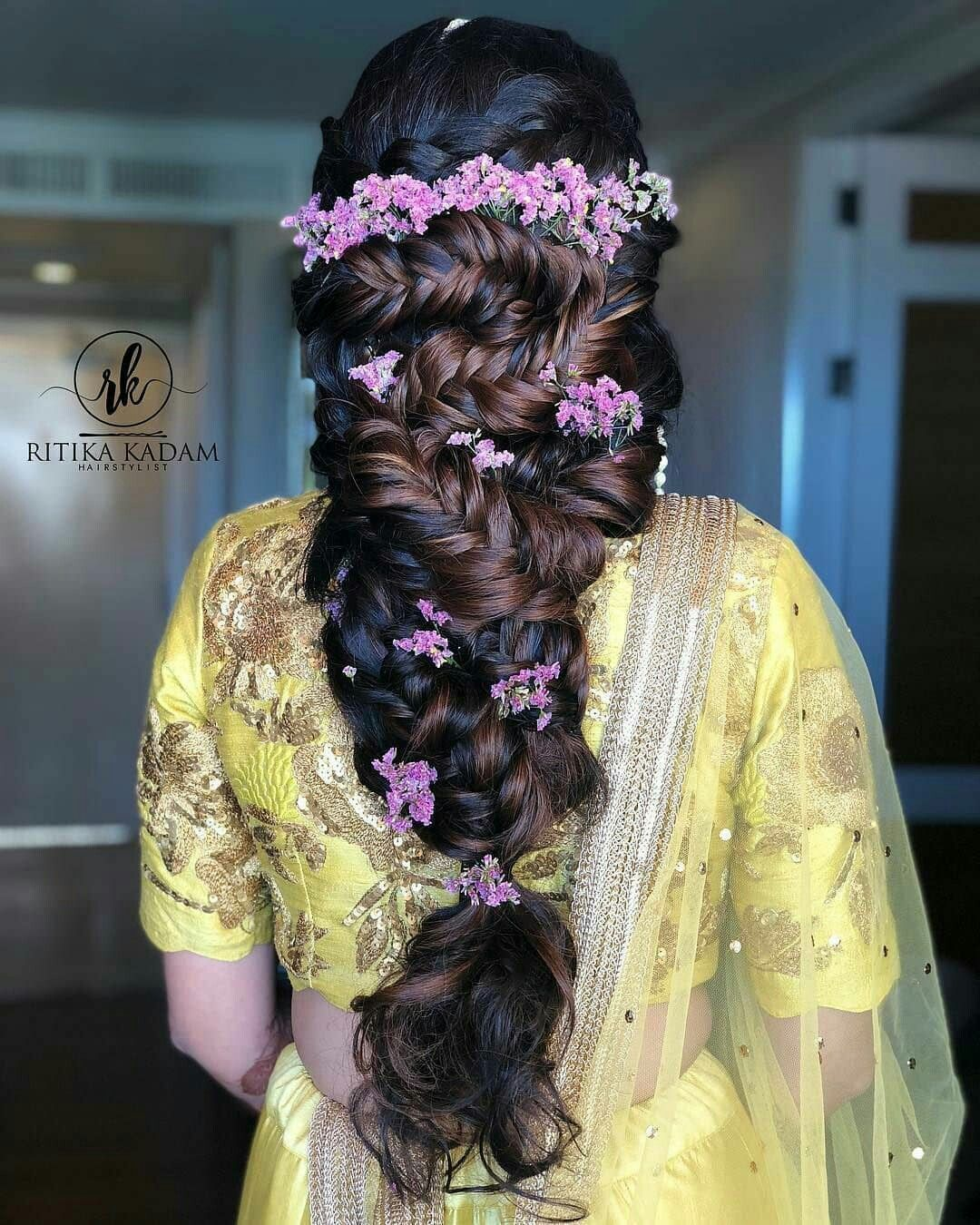 Indian Braids Hairstyle: Pin By Ponchoma On Flower Bun Idea