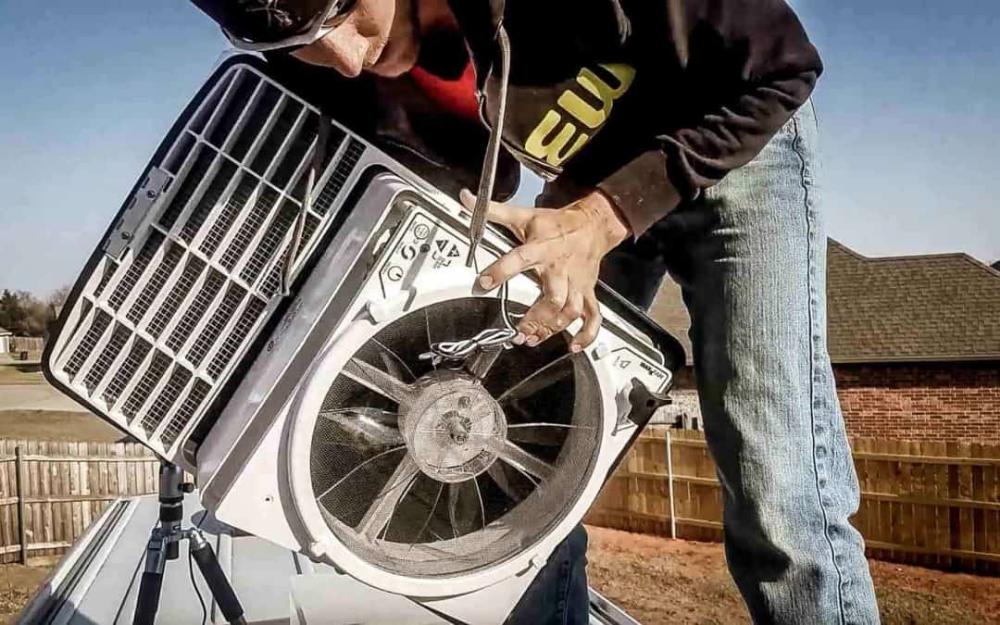 How To Install A Maxxair Roof Vent Fan In A Diy Camper Van Conversion Camper Van Conversion Diy Diy Camper Camper Van