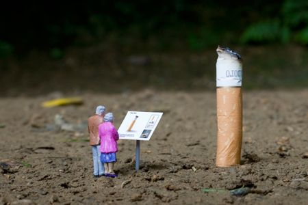 """""""It had always been their dream to see the world's largest cigarette butt. """""""