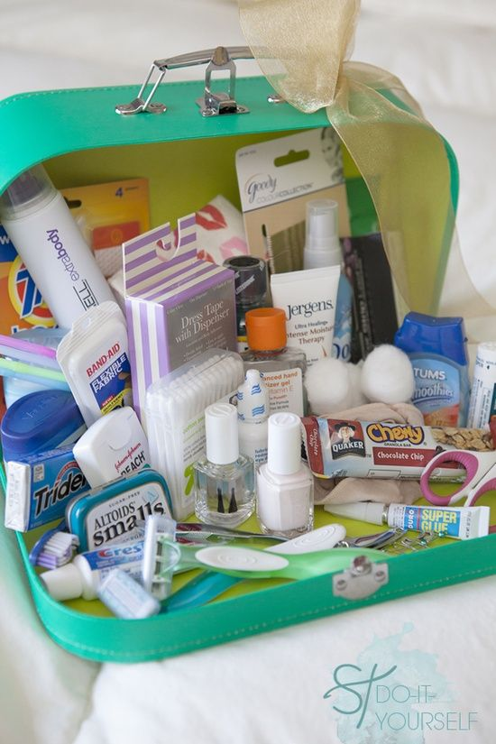 Diy kit de emergencia boda y obsesion emergency wedding kit great to put in the bathroom too for your guests solutioingenieria Image collections