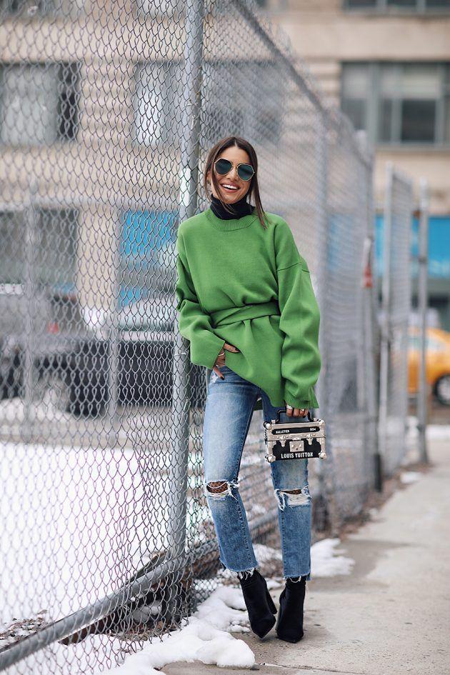 a068fa166900e New York Moda Haftası Sonbahar-Kış Sokak Kombinleri 2018 | FASHION ...