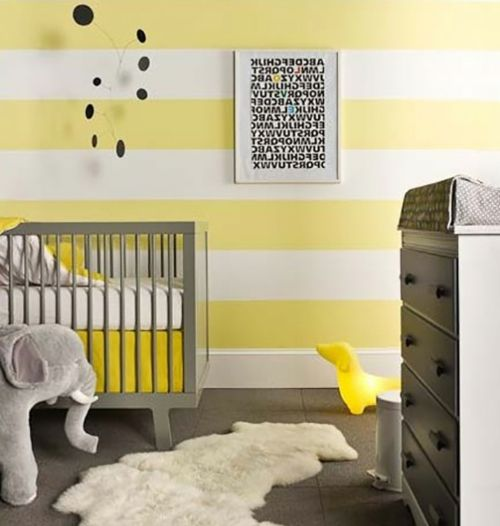 kinderzimmer gestalten streifen wand gelb buttegelb grau kinderzimmer pinterest. Black Bedroom Furniture Sets. Home Design Ideas