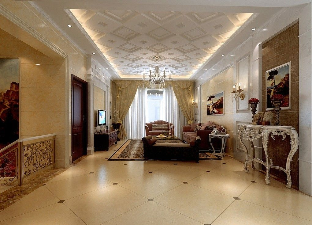 luxurious gypsum ceiling color decorations for modern home designs - Living Room Ceiling Colors