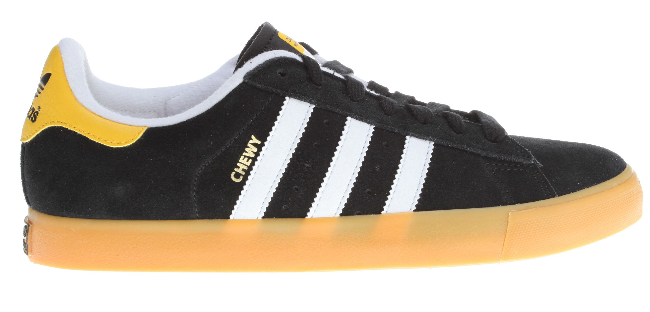 save off a6887 2cbce Adidas Campus Vulc Chewy Cannon Skate Shoes BlackWhiteSun - Mens