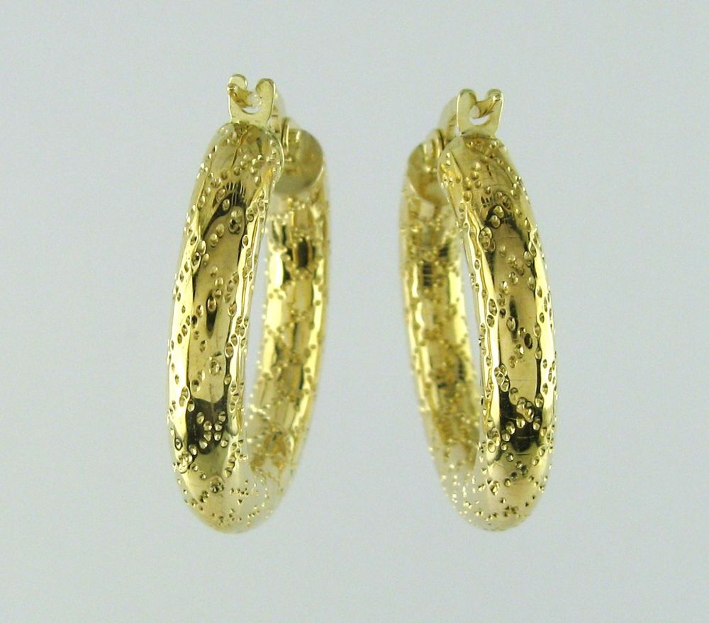 10k Solid Gold Hoop Earrings Whole Price 99 00 Ebay