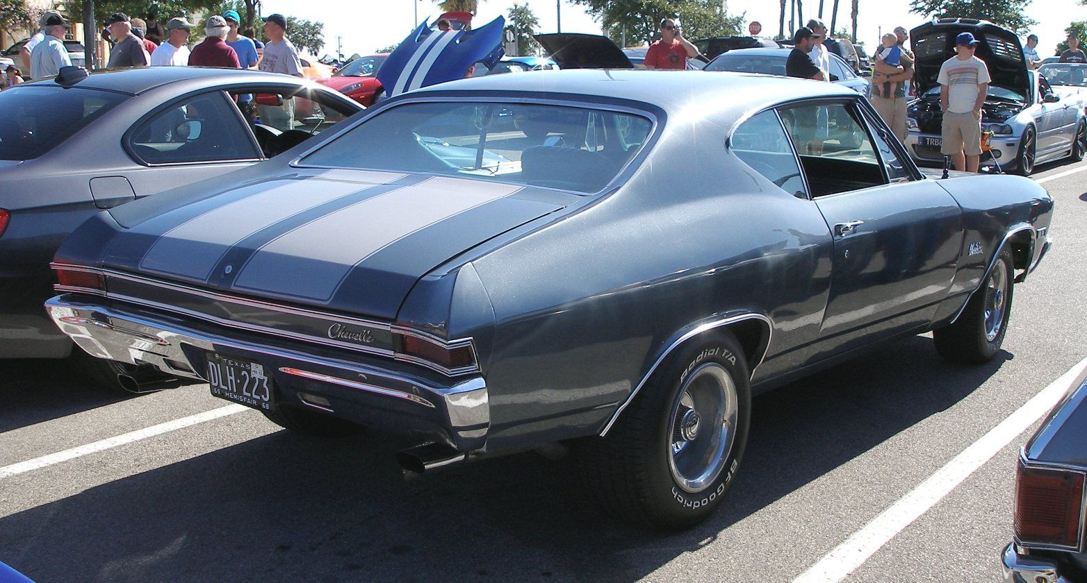 68 chevelle grey with silver stripes