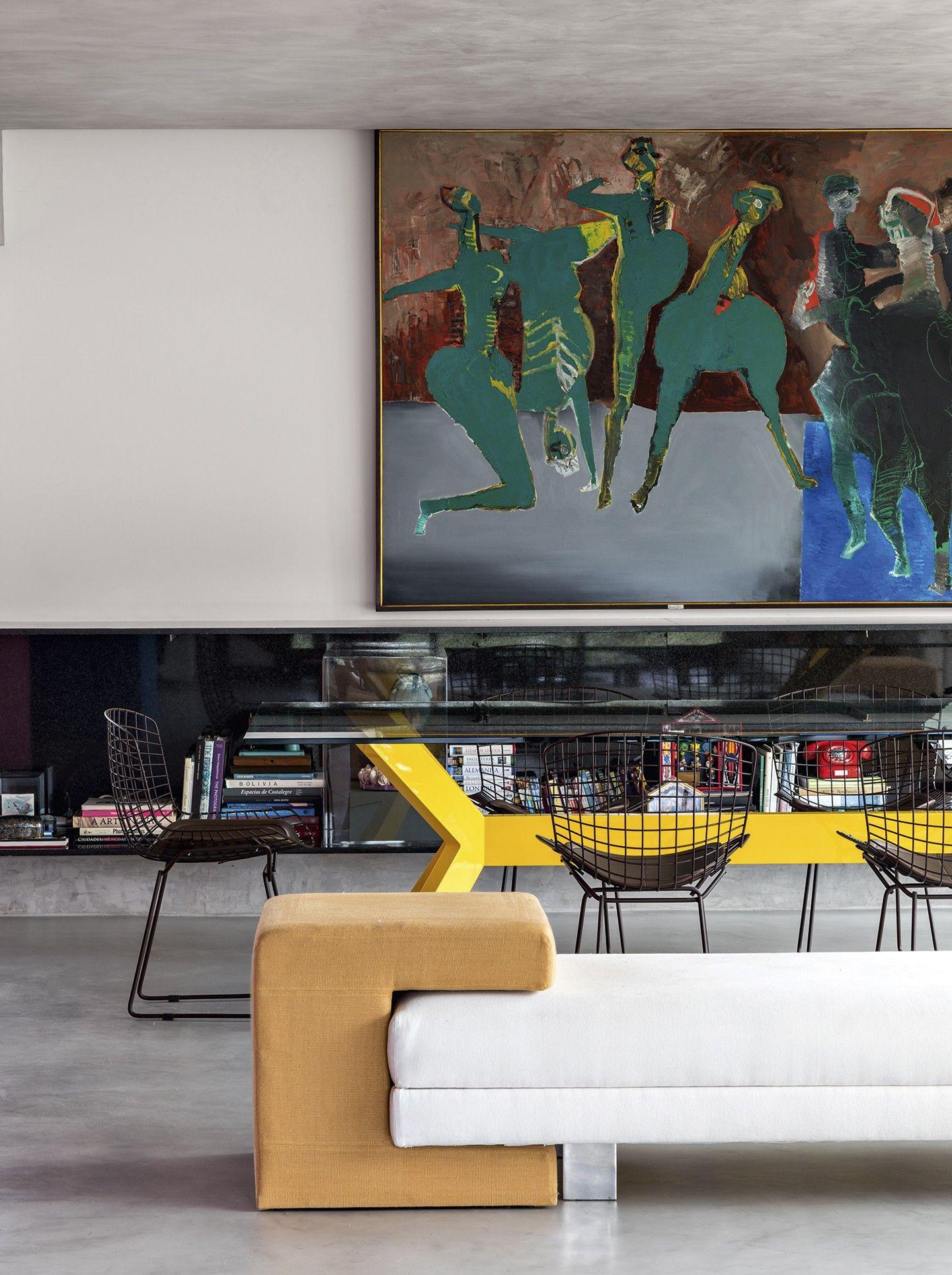 Azul Rosa E Amarelo Criam Clima Vibrante No Apartamento De