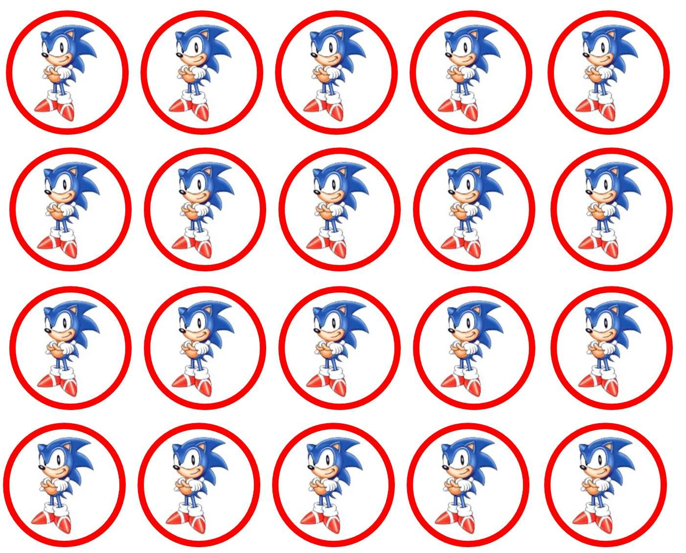 Sonic The Hedgehog Cupcake Toppers