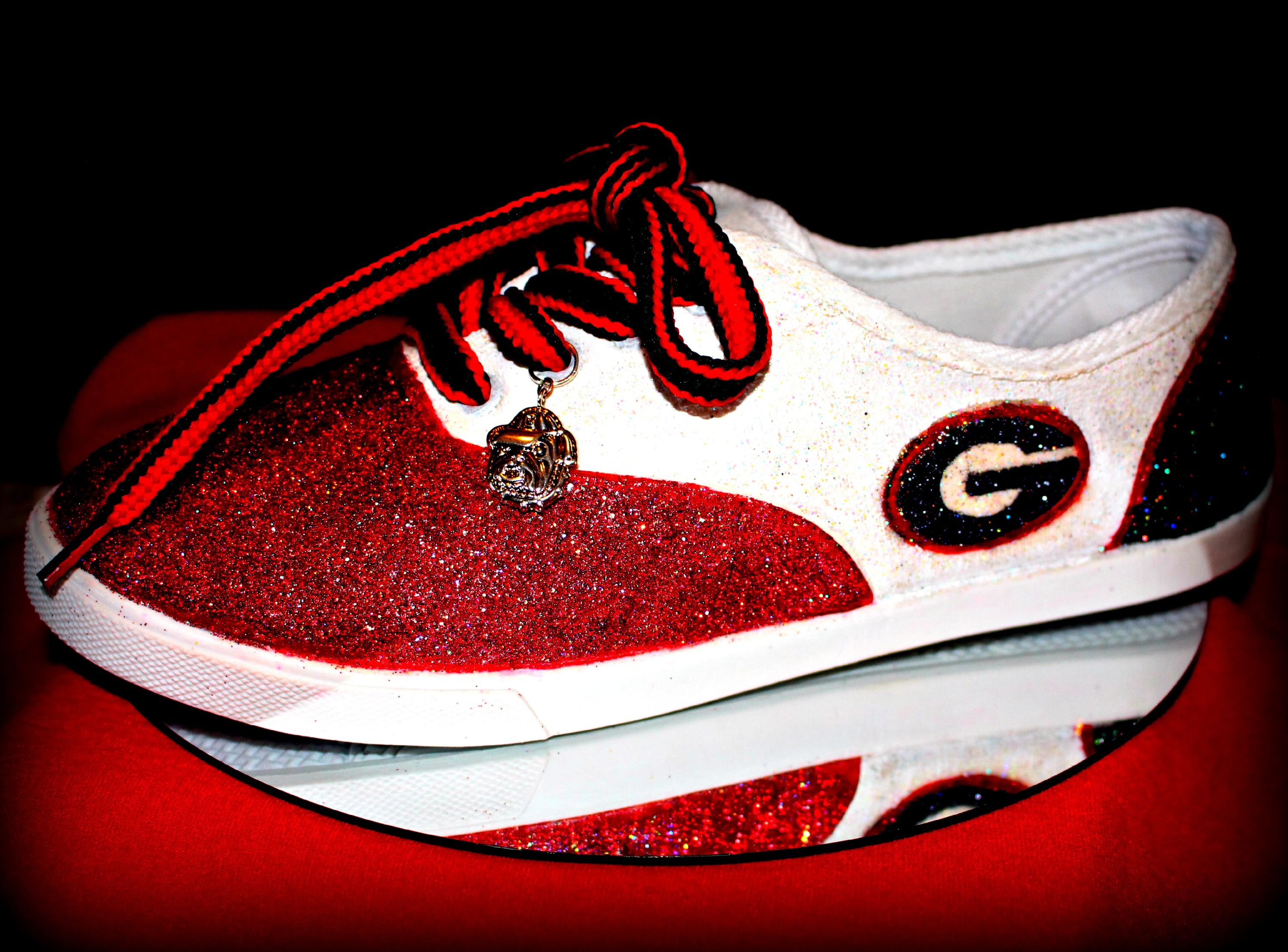My handpainted,glittered,and sealed canvas tennies...
