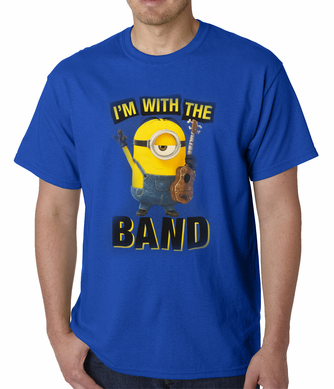 Official Minions I'm With The Band T-shirt