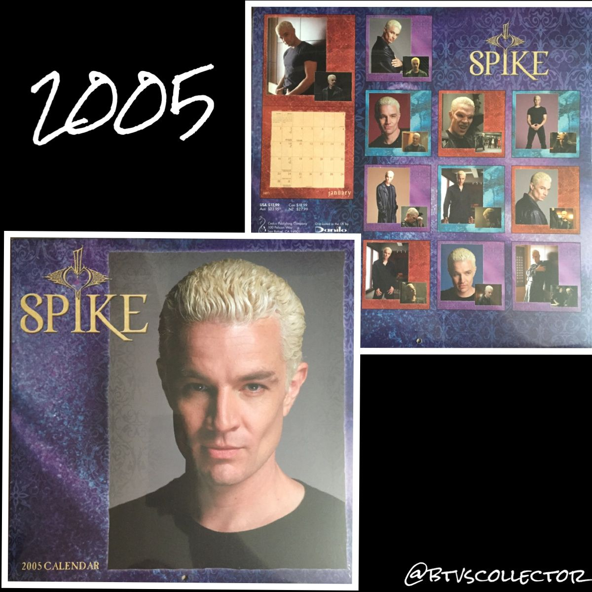 Buffy the Vampire Slayer - 2005 Spike Calendar #btvscollector #btvs #buffy #buffythevampireslayer