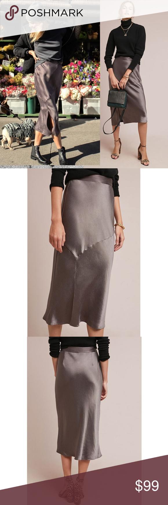 da4a45c42991c NWT ANTHROPOLOGIE Hutch Bias Satin Skirt Brand new with tags NWT  ANTHROPOLOGIE Hutch Bias Satin Skirt