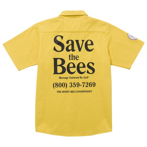 dcc50654e770 SAVE THE BEES SHORT SLEEVE WORK SHIRT BY GOLF WANG
