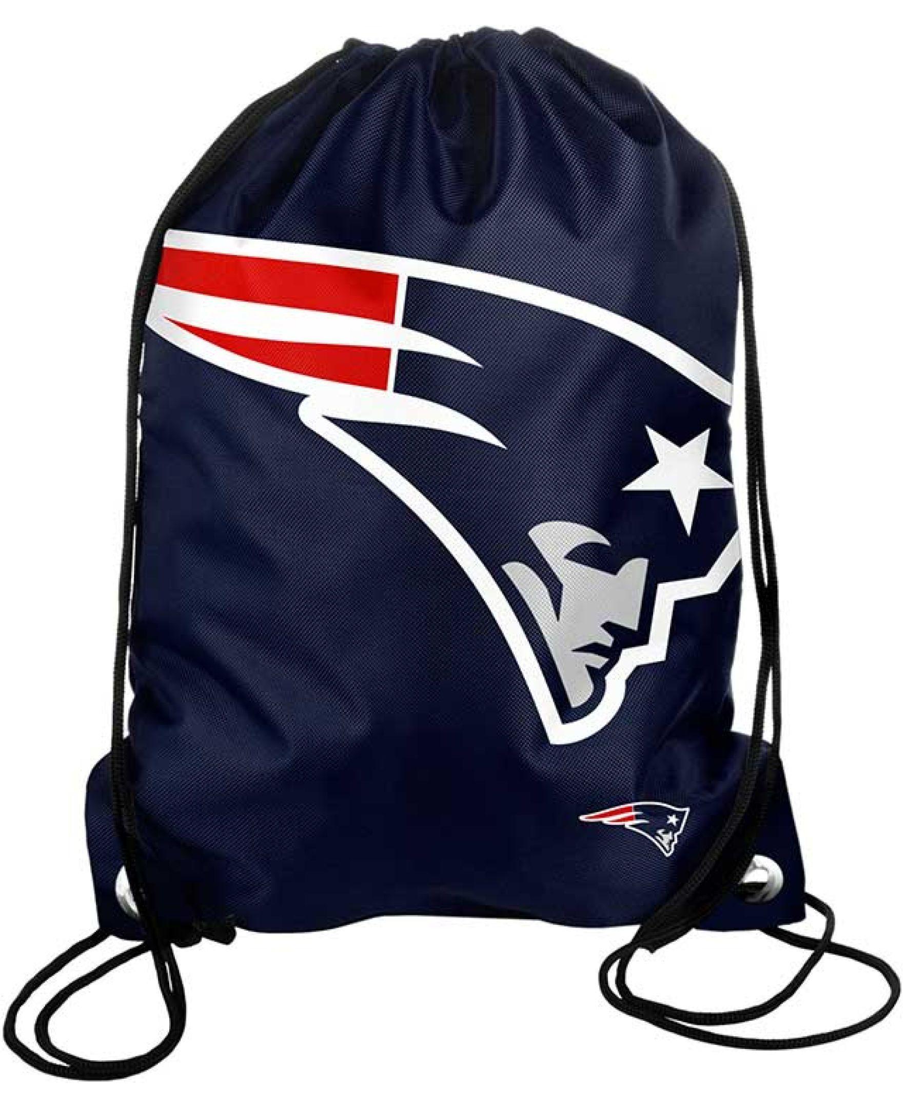 85e419f4 Forever Collectibles New England Patriots Big Logo Drawstring Bag ...