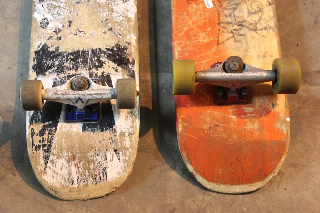 2 Assorted Used Skateboards Property Room Skateboard Assorted