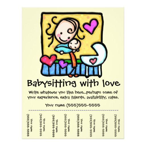 Littlegirlie Babysitting Custom TearSheet Flyer  Babysitting