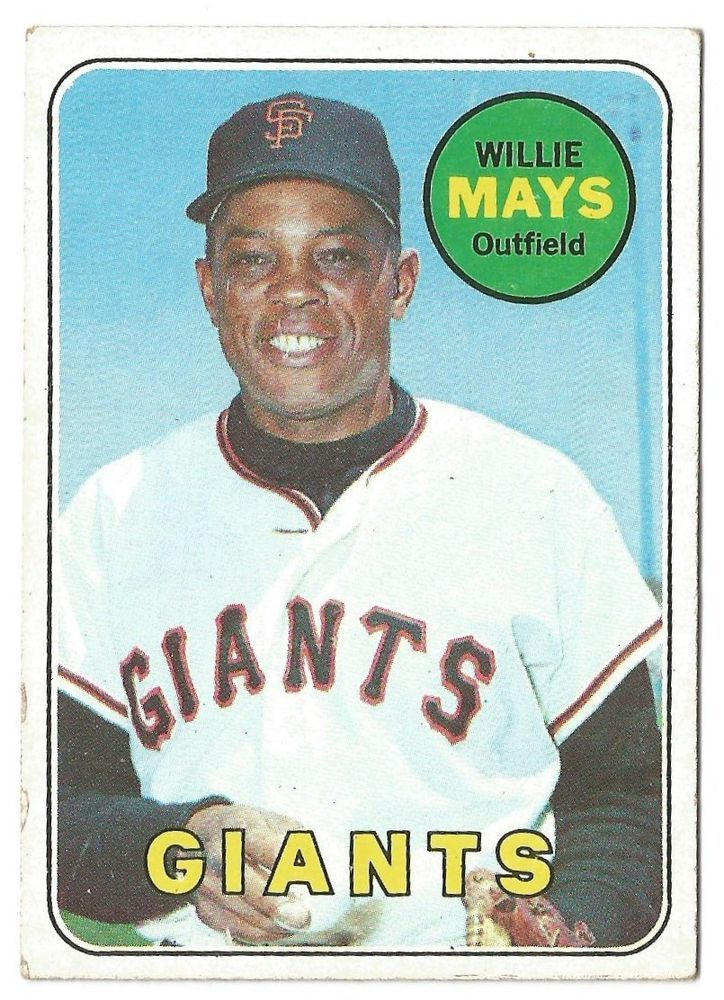 1969 Topps Willie Mays 190 Baseball Card Vg Free Usa